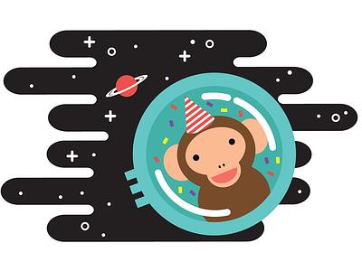 Space Monkey astronaut moon space space monkey