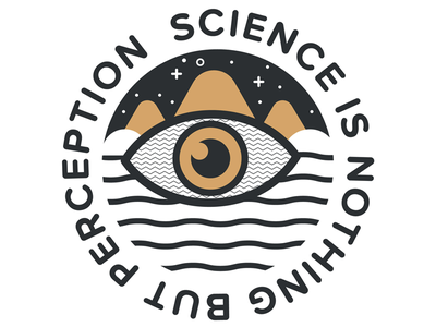 Science is nothing but perception space slogan typography science plato