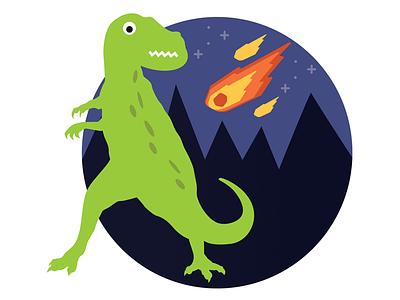 Dinosaur meets meteor space meteor dinosaur
