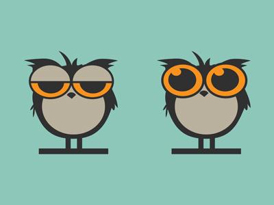 Owl logo owl vector retro