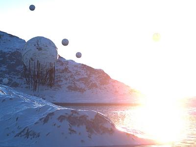 Spherical Ruin octane 3d concept cinema4d