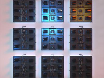 Terminal Connection octane concept cinema4d 3d