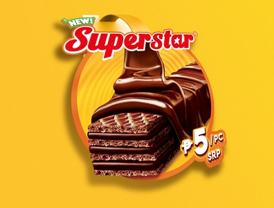 SUPERSTAR WAFER marketing business productlaunch wafer graphicdesign design research strategy chocolate launch introduction brand branding