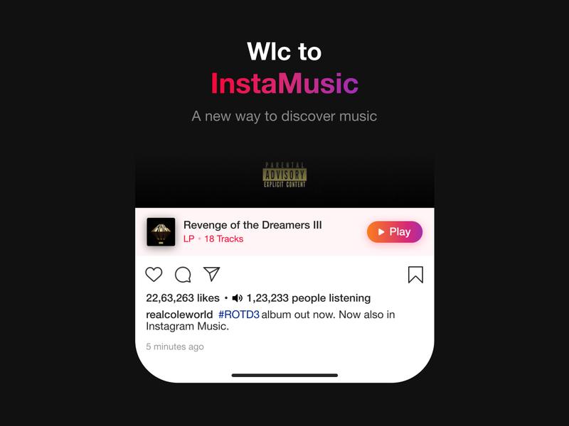 Preview Album Tracks on Instagram artists music instagram