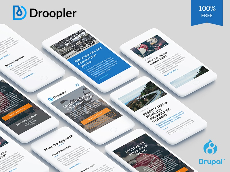 Droopler freebie webdesign drupal