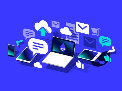 Illustration ecommerce communication technology internet drupal illustration