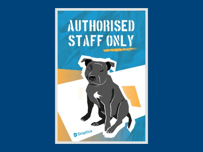Loka Poster (freebie) freebie droptica dog poster