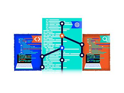 Blog_Illustration testing qa seo git code development illustration
