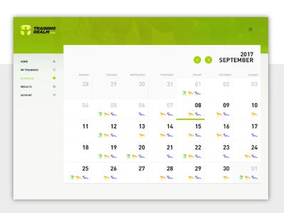 Trainingrealm  Calendar View green calendar symfony php app ux ui design droptica