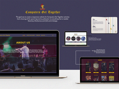 CGT Website Mockup ux ui wireframe user experience user interface website mockup games competition company profile