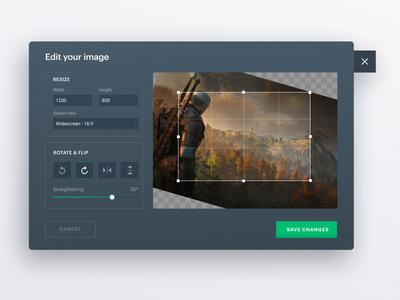 Image/Photo Editor resize rotate flip crop edit photo editor image editor interface webdesign figma
