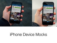 Free iPhone Mocks for your UI