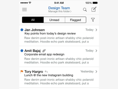 Enterprise Email App - iPhone
