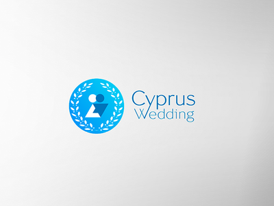 Logo for a wedding agency olive branch wedding logo hugs love romantic clean ilja2z couple cyprus wedding logo