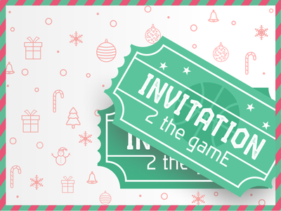 Double Dribbble Invitation merry christmas new year good luck your best shot invite giveaway mint tickets ilja2z welcome draft invite