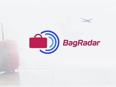 Logo for a baggage finding service logo ilja2z track service finding airport luggage baggage bagradar radar bag