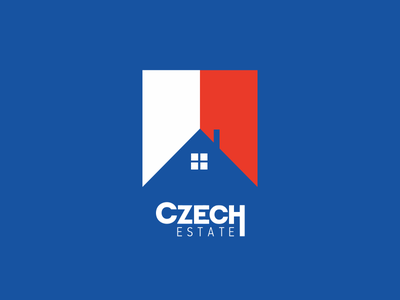 Real Estate Agency Logo real estate logo roof home house ilja2z tricolor flag czech