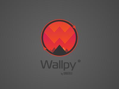 Logo for a Wallpy app app logo gingerlab ilja2z application logo app wallpy