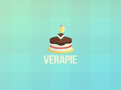 Verapie - Logo for a bakergirl ilja2z package branding logo candy sweet bakery cake pie verapie bakergirl