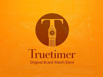 Truetimer - Naming & Logo for a Watch Store truetimer big ben timer clock ilja2z naming logo watch store grange t-logo grunge background watch