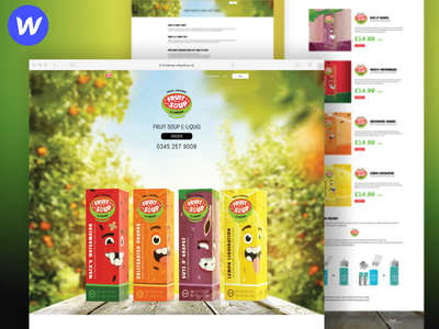 Fruit Soup E-liquids site vape e-liquids valor software ilja2z webflow landing site liberty flights fruit soup