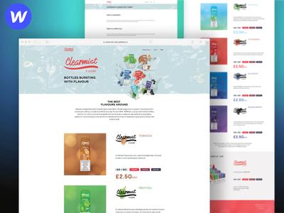 Clearmist E-liquids site