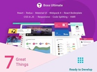 Boss Ultimate - Admin Template Material Design
