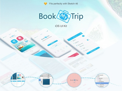 Mobile UI Kit Traveling Apps