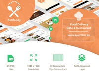 Delifoody - Food Delivery & Restaurant Mobile UI Kit