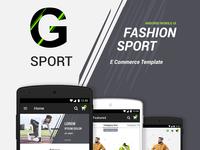 G-Sport | Fashion Ecommerce UI Kit