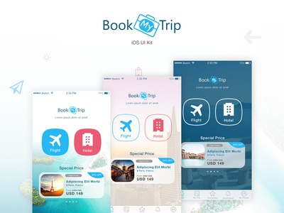 BookMyTrip - Mobile UI Kit Traveling Apps
