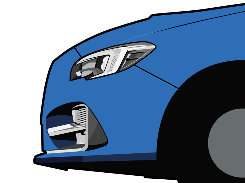 WIP Automotive Illustration automotive wip vector illustration car