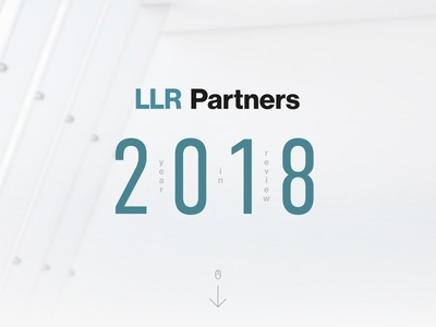 Year in Review - LLR Partners year in review design website ui