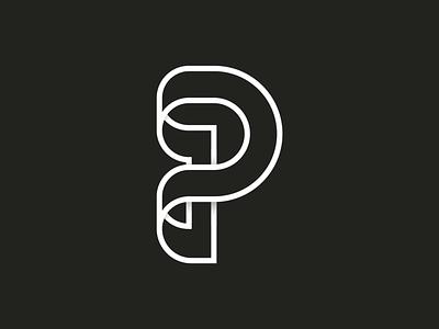 36 days of type ~ 16/36 ~ P icon design vector-art icondesign lineicon illustrator icon vector p logo logo monogram 36daysoftype typography type