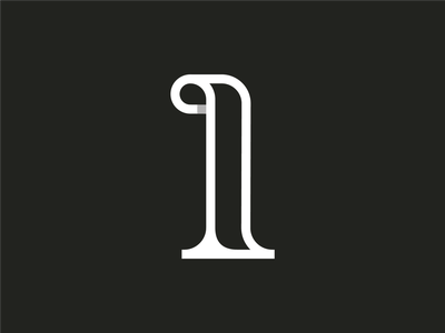 36 days of type ~ 28/36 ~ One vector-art icondesign lineicon illustrator icon vector 1 logo monogram logo 36daysoftype07 36daysoftype typography type