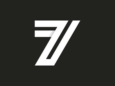 36 days of type ~ 34/36 ~ Seven vector-art icondesign lineicon illustrator icon vector 7 logo monogram logo 36daysoftype07 36daysoftype typography type