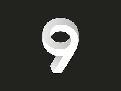 36 days of type ~ 36/36 ~ Nine vector-art icondesign lineicon illustrator icon vector 9 logo monogram logo 36daysoftype07 36daysoftype typography type