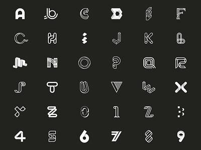 36 days of type ~ Full set vector-art icondesign lineicon illustrator icon vector alphabet monogram logo typography logo 36daysoftype07 36daysoftype typography type