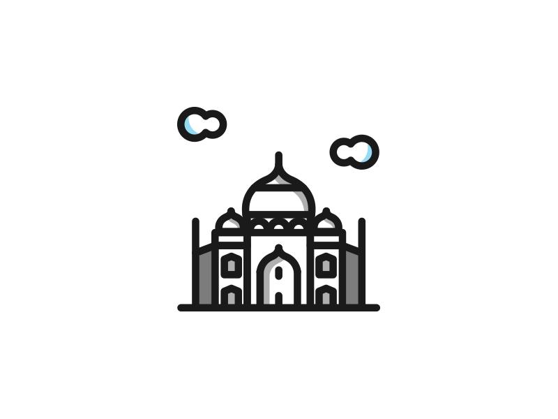 Taj Mahal vector art sketch illustrator icons icon design iconaday vector vectober graphic design graphics taj mahal