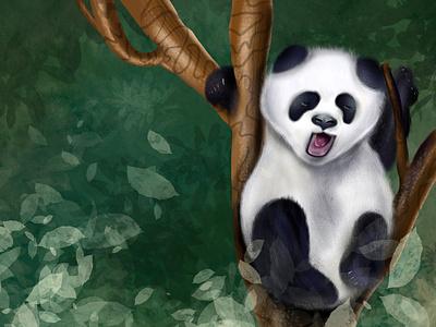 Sleepy Panda Illustration procreate art imhassanali panda bear drawing sketch art website graphic symbol digital art wildlife animal digital painting procreate web app color modern clean illustration
