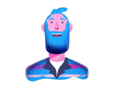 Character Illustration imhassanali digital drawing painting procreate app grains texture website face procreate app web vector mobile app design ux ui minimal illustration modern clean