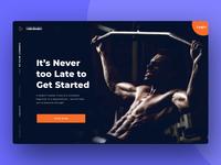Fitness Website Homepage Header