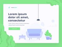 Web header Layout - Illustration