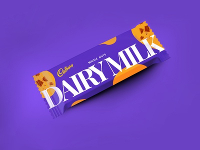 Dribbble Weekly Warm-Up Challenge- Cadbury Dairy Milk Wrapper