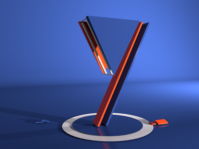 Y animation design type art adobe photoshop typography cinema4d 3d adobedimension 36dayoftype