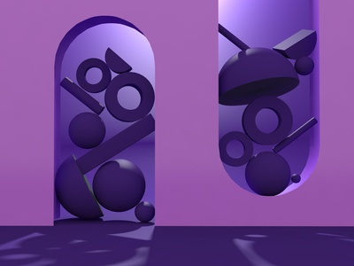 Day 7 of creating 3D junk illustration abstract art typography 36dayoftype design 3d adobe photoshop cinema4d adobedimension