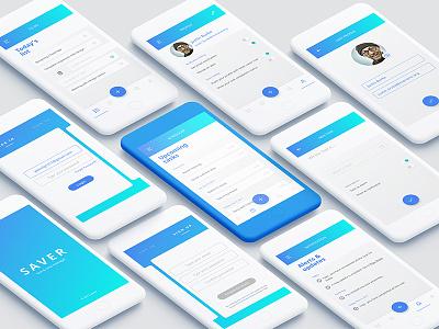 Saver - Task App manage time app design interaction design save time task app gradient saver app ux ui