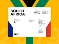 South Africa Card - Cricket World Cup 2019