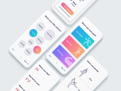 Fitness App user experience user interface app design ux ui