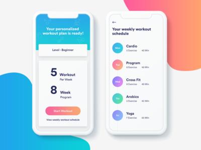 Fitness App - Workout Plan ui ux app design user interface user experience